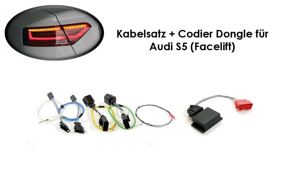 wiring harness coding dongle led taillights audi a5 s5 facelift