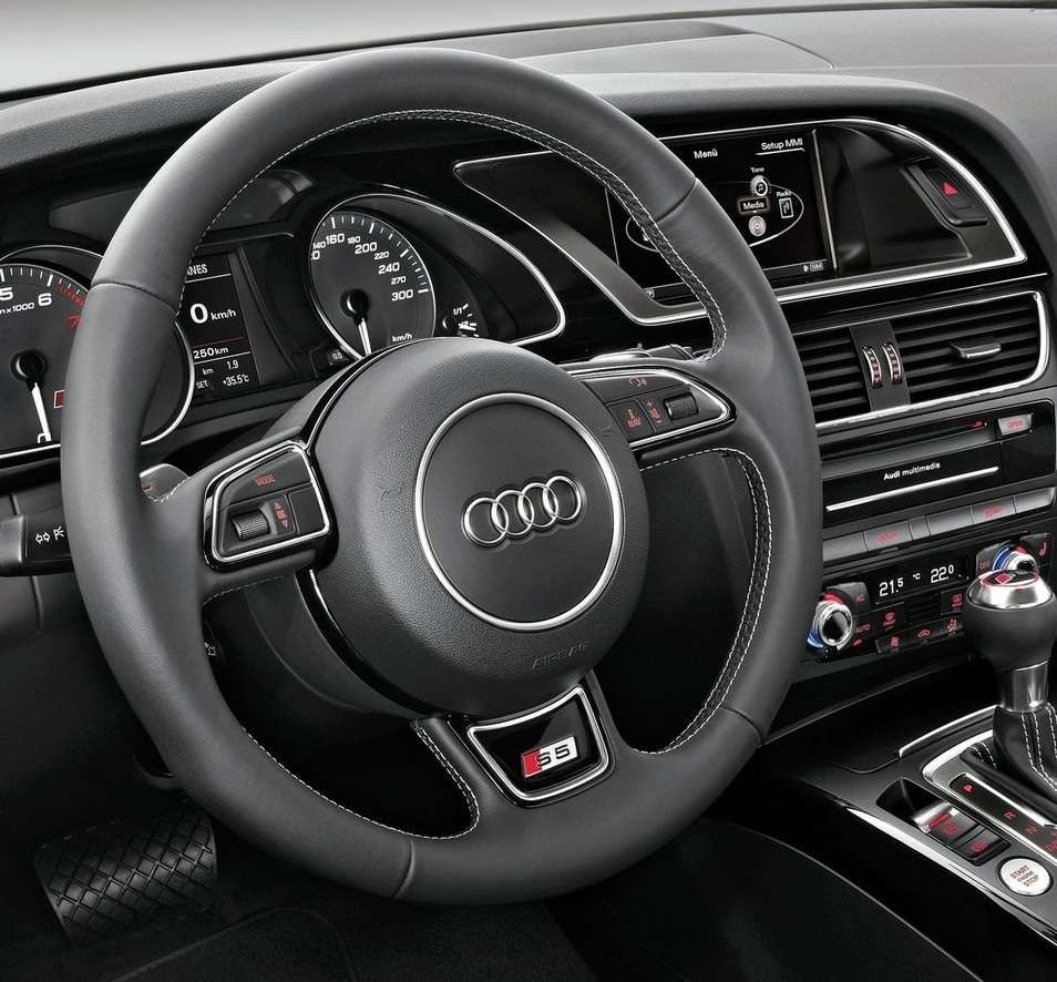 NEW EURO Audi OEM 4F A4 A6 A8 Grey Leather Multi Function Paddle Steering Wheel