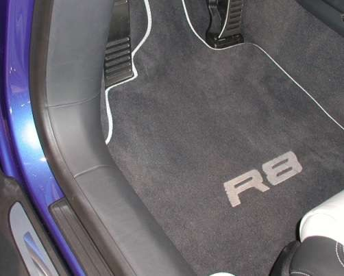 stitching audi with white black mats products floor diamond