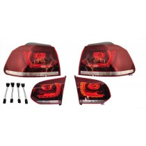 OEM Euro VW Golf MK6 R LED darkred taillights incl. adpater